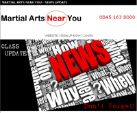 Martial Arts Near You Newsletter