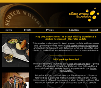 The Scotch Whisky Experience & Amber Restaurant Newsletter