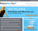 Pilates Near You - Pilates Class Finder UK - Responsive website design