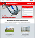Residential Fire Sprinkler Installations - mobile responsive website design