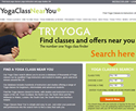 Yoga Class Near You - mobile responsive website design